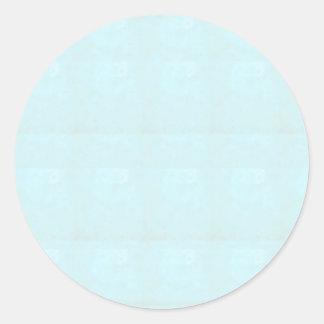 BLAUER klassischer runder Kristallaufkleber Runder Aufkleber