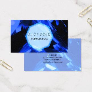 Blauer Kristall Visitenkarte
