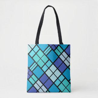 Blauer künstlerischer Entwurf Tasche