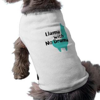 Blauer Lama-HundeT - Shirt