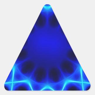 Blauer Laser #2 Dreieckiger Aufkleber