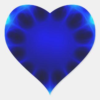 Blauer Laser #2 Herz-Aufkleber