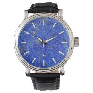 Blauer Lazurite Edelstein Uhr