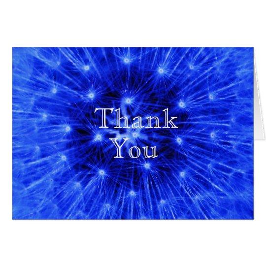 Blauer Löwenzahn-Hauch danken Ihnen zu kardieren Karte