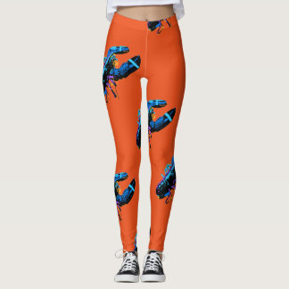 Blauer Maine-Hummer Leggings