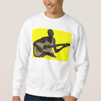 blauer Mann, der die Blues singt Sweatshirt
