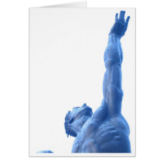 Blauer Mann Karte