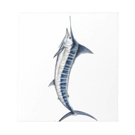 Blauer Marlin Notizblock