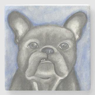 Blauer Marmorstein-Untersetzer der französischen Steinuntersetzer