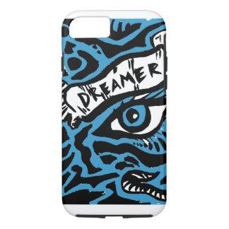 Blauer mit Augen Träumer iPhone 7 Hülle