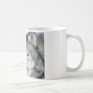 Blauer mit Augen Wolf Kaffeetasse
