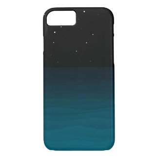 Blauer Mitternachtsnächtlicher Himmel iPhone 8/7 Hülle