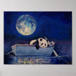Blauer Mond Poster