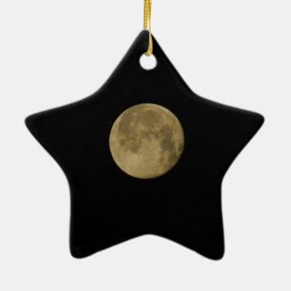 Blauer Mond-Weihnachtsstern-Verzierungen Keramik Ornament