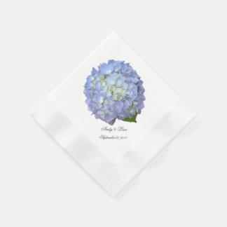 Blauer Mondhydrangea-kundenspezifische Hochzeit Serviette