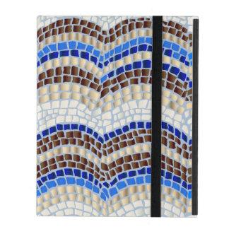 Blauer Mosaik iPad 2/3/4 Kasten iPad Schutzhüllen