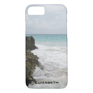 Blauer Ozean mit dem schäumenden Wellen-Meerblick iPhone 8/7 Hülle