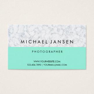Blauer Pastell mit weißem modernem Visitenkarte