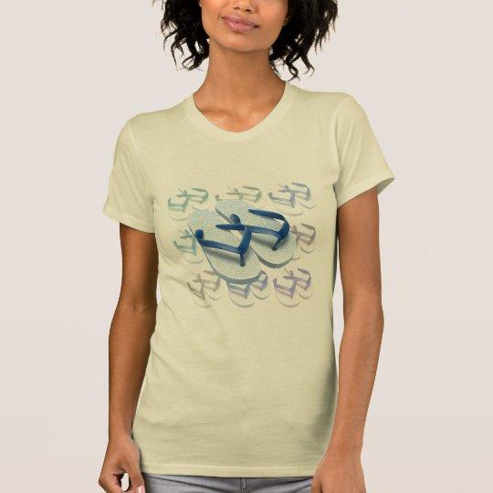 Blauer Purzelbaum-Entwurfs-T - Shirt