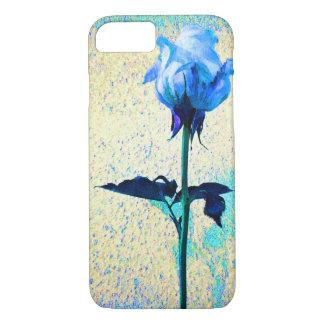 Blauer Rosen-Blumen-Liebe-Zellen-Telefon-Kasten iPhone 8/7 Hülle