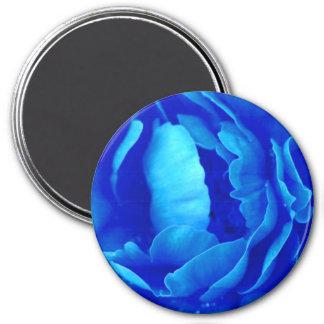 Blauer Rosen-Magnet - kundengerecht Magnete