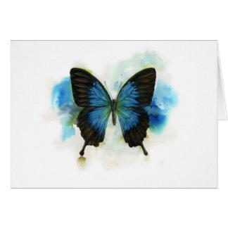 Blauer Schmetterling irgendein Karte
