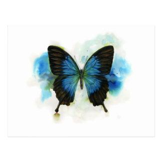 Blauer Schmetterling irgendein Postkarte