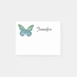 Blauer Schmetterling Post-it Klebezettel