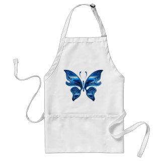 Blauer Schmetterling Schürze