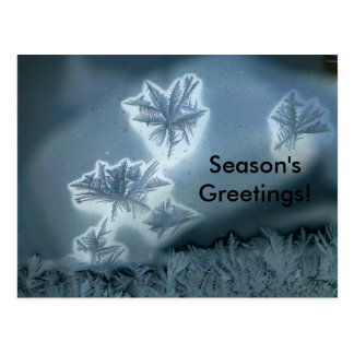 Blauer Schnee Postkarte
