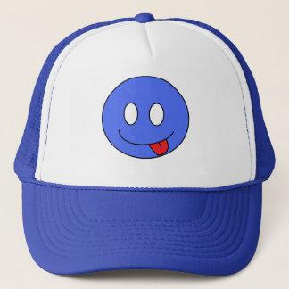 Blauer smiley-Hut Truckerkappe