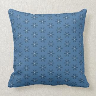 Blauer Stern-Blume Kissen