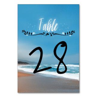 Blauer Strand-wunderliche Hochzeit Karte