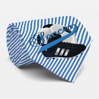 Blauer Streifen-Fußball-Spieler Bedruckte Krawatte