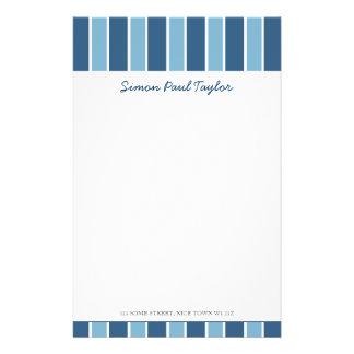 Blauer Streifen-persönliches Briefpapier