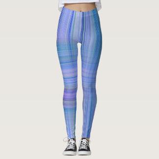 Blauer Striped Entwurf n Lavendel Leggings