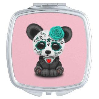 Blauer Tag des toten Pandas CUB Taschenspiegel