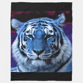 Blauer Tiger Fleecedecke