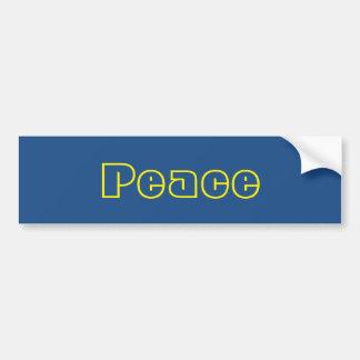Blauer und gelber FriedensAutoaufkleber Autoaufkleber