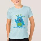Blauer und grüner KinderT - Shirt des niedlichen
