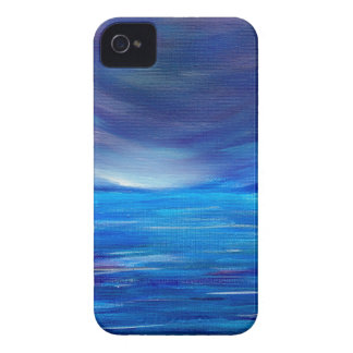 Blauer und lila abstrakter Meerblick iPhone 4 Case-Mate Hülle