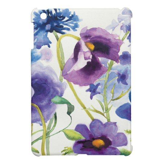 Blauer und lila Mischgarten Hüllen Für iPad Mini