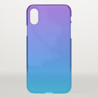 Blauer und lila Ombre iPhone X Clearly™ Kasten iPhone X Hülle