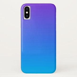 Blauer und lila Ombre iPhone X Telefon-Kasten iPhone X Hülle