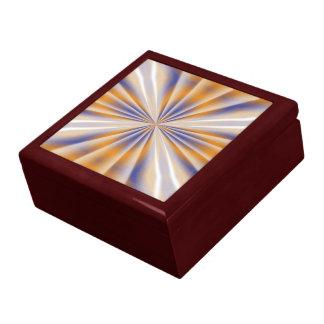 Blauer und orange abstrakter Kasten Geschenkbox