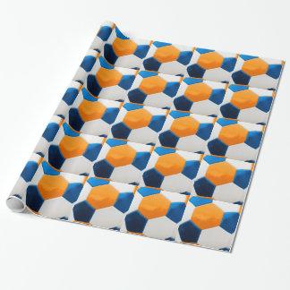 Blauer und orange Ball Geschenkpapier