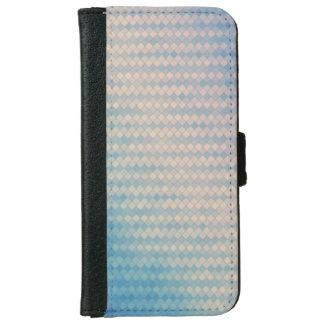 Blauer und rosa Diamant-Geldbörsen-Telefon-Kasten iPhone 6/6s Geldbeutel Hülle