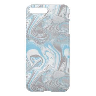 Blauer und schwarzer Marmor iPhone 8 Plus/7 Plus Hülle