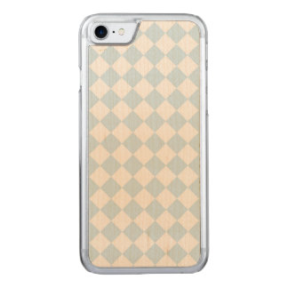 Blauer und weißer Diamant-kariertes Pastellmuster Carved iPhone 8/7 Hülle