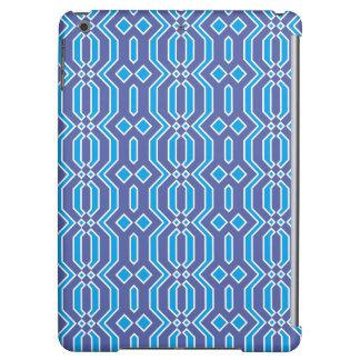 Blauer und weißer geometrischer Muster iPad Kasten
